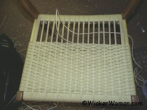 weaving Danish cord seat
