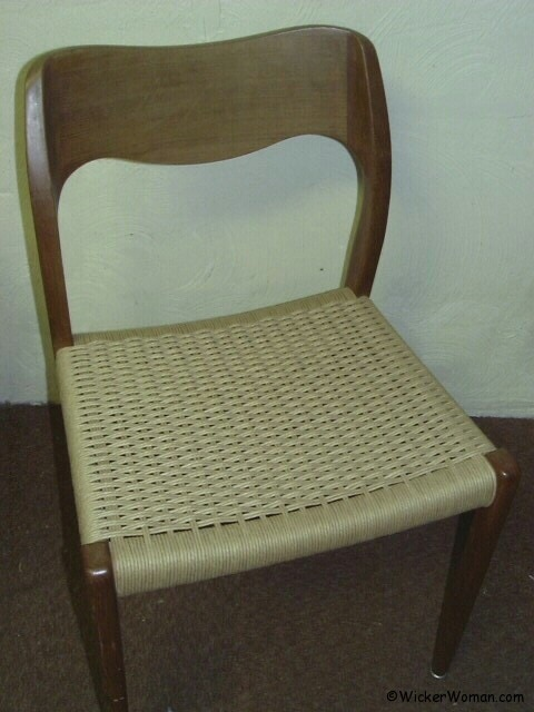 Danish modern cord woven chair seat