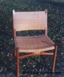 danish modern cane chair
