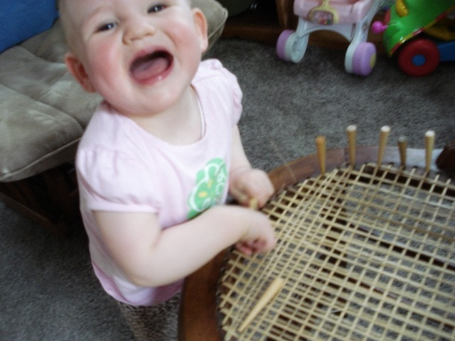 Chair Caning, Basketweaving and TV Watching