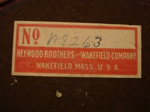 Heywood Brothers and Wakefield Company lamp label