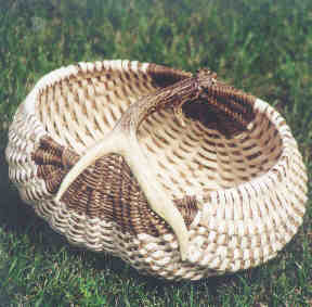 Ebony and Ivory Antler Basket