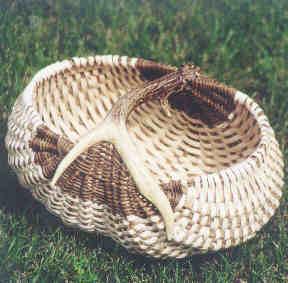 Ebony and Ivory Antler Basket