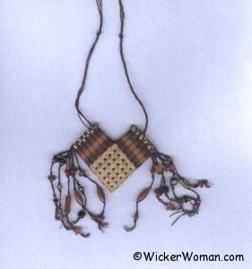 black ash elbow basket necklace