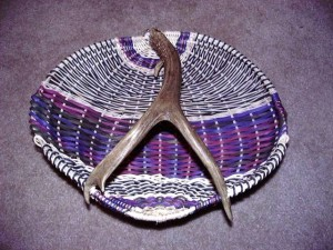 Fancy Mule Deer Antler Basket