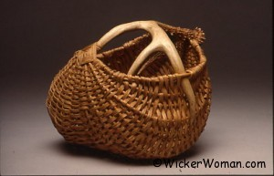 First Attempt Antler Basket by Cathryn Peters 1990