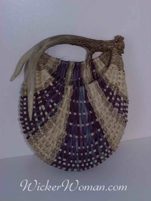 Gem antler basket wall pocket