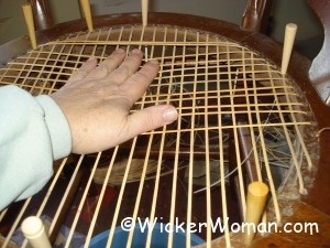 correct hole chair caning tension