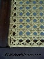 traditional hand chair caning or hole-to-hole