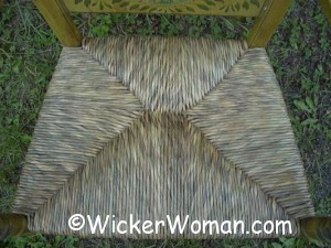 hand twisted bulrush seat