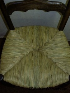 hand-twisted cattail rush seat