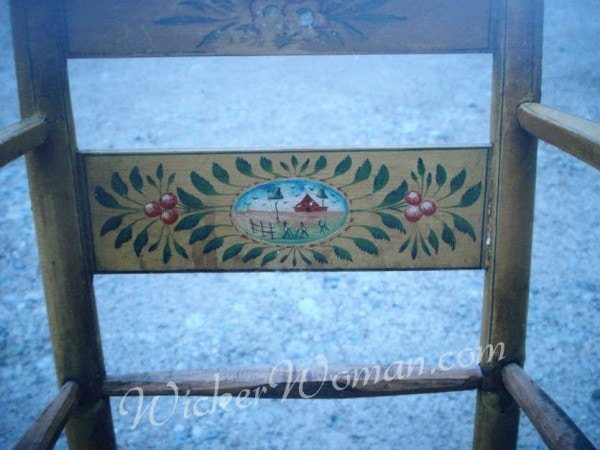 handpainted Norwegian chair back