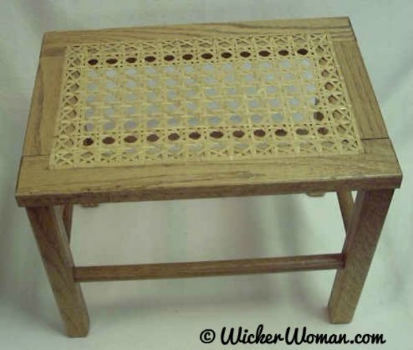 Beginner Hole Cane Footstool Class at the Ely Folk School 2017