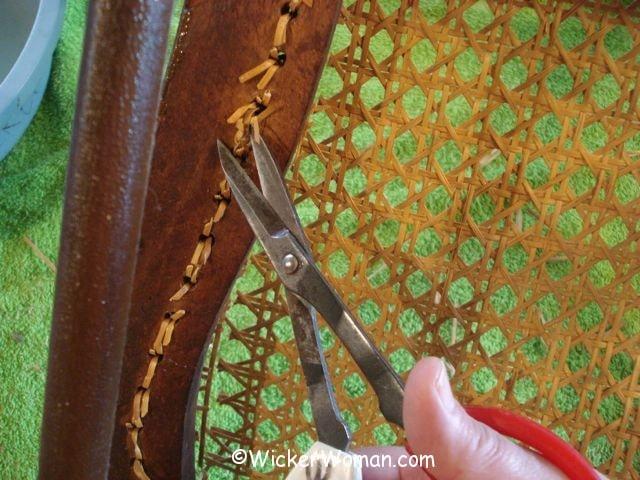 cut cane loops on bottom