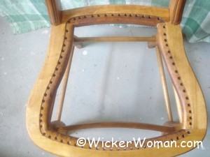 hole cane seat horseshoe shape