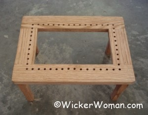 traditional hole cane stool
