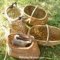 a variety of wicker baskets