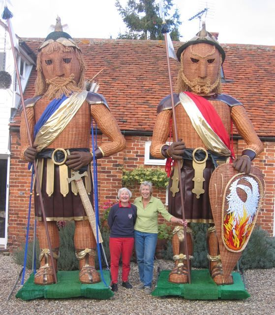 Willow giants Gog and Magog, Olivia Elton Barratt and Kay Johnson