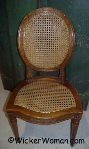 Itialian cane chair repaired.