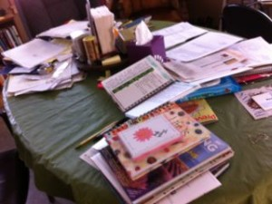 kitchen table mess