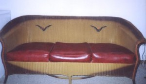 1920s Lloyd Loom wicker couch