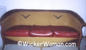 1930s Lloyd Loom Wicker Couch