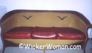 1930s Lloyd Loom Wicker Couch