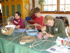 Antler Basket Class at North House Folk School