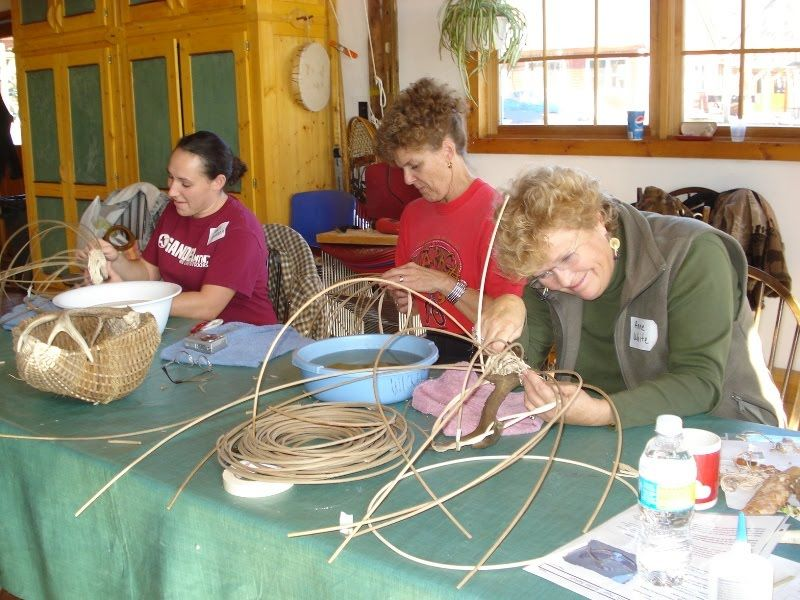 Antler Basket Class at North House Folk School