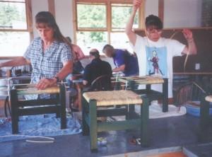 chair caning North House Folk School