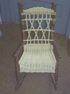 child wicker rocker restored