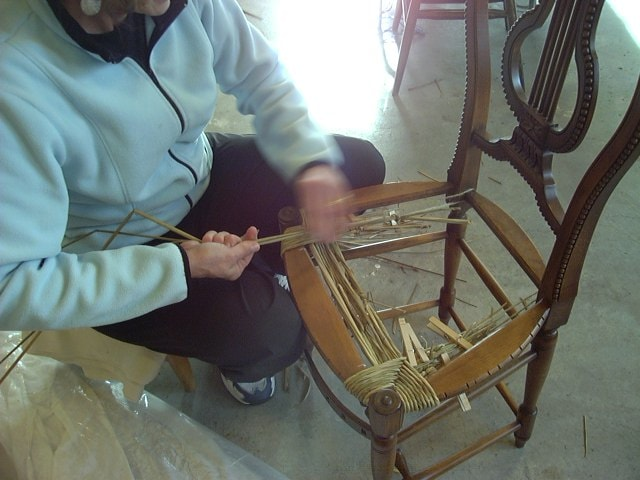 Natural Rush Seatweaving Class Listing in John C. Campbell Folk School Catalog