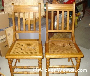 broken cane seats