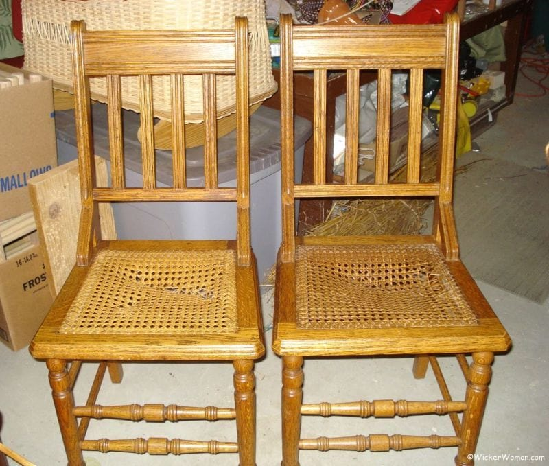 Broken cane seat chairs? Find chair caning repair experts