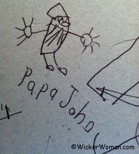 Drawing of Papa John