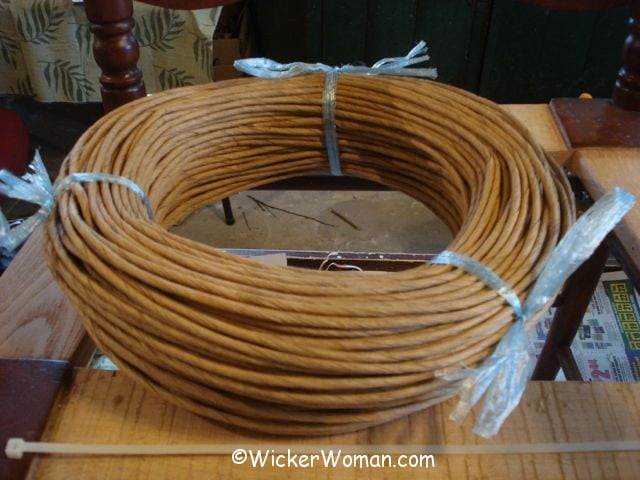 paper rush coil for seatweaving and wicker furniture