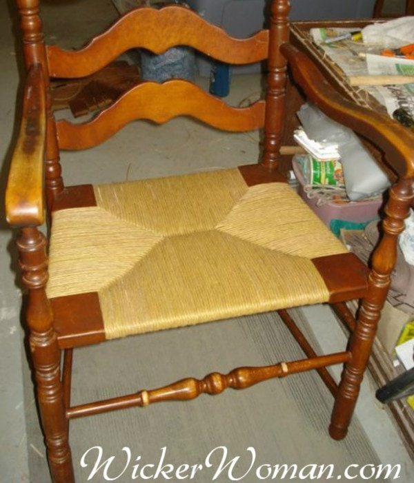 paper rush chair seat