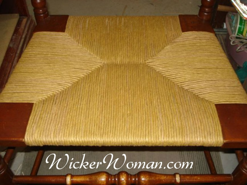 Paper rush woven chair seat