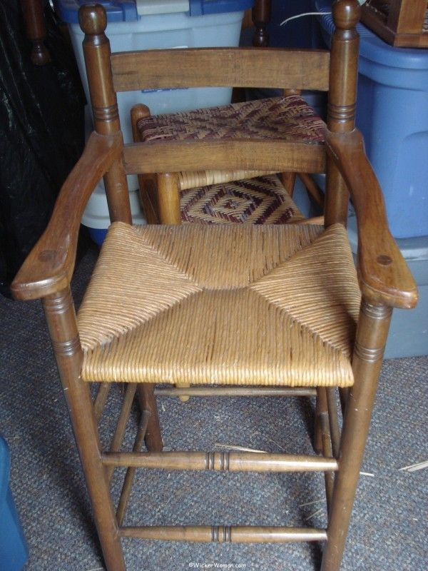 paper rush youth high chair 1976 - First Paper Rush Chair Seat--#Throwback Thursday