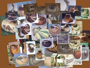 Samples of Cathryn Peters Antler Baskets
