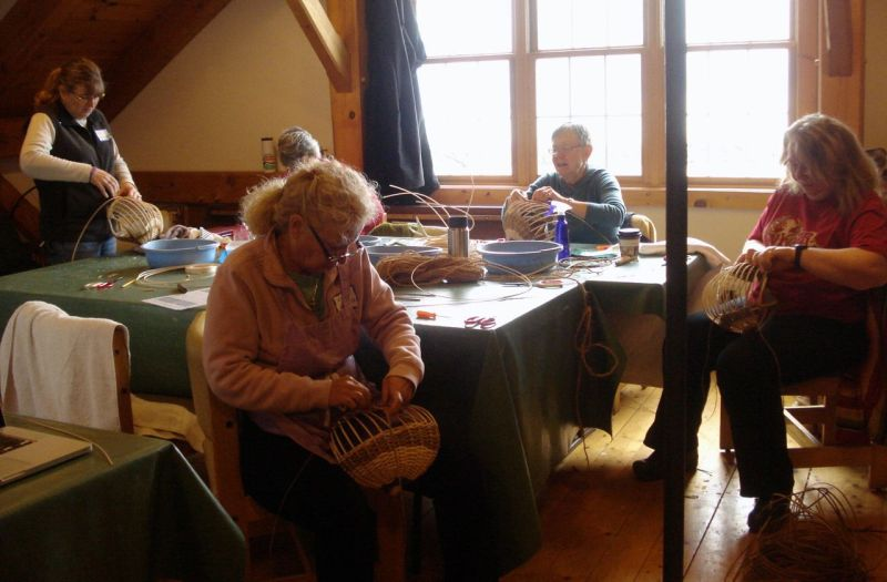 Chair Caning and Antler Basket Classes–Fall 2014