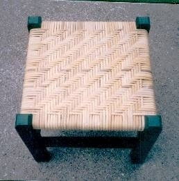 Porch cane or binder cane stool