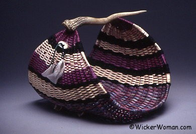 Purple Passion Antler Magazine Basket