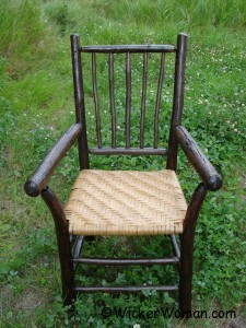 Hickory chair with reed splint