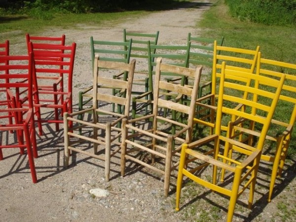 post and rail chair frames