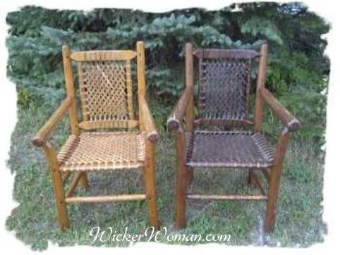 rustic reed lattice weave seats