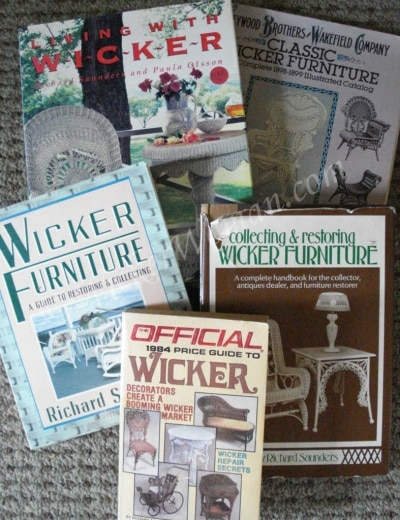 Richard Saunders Antique Wicker Books