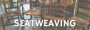 Woven chair seats for the Seatweaving Blog Category Sidebar Image