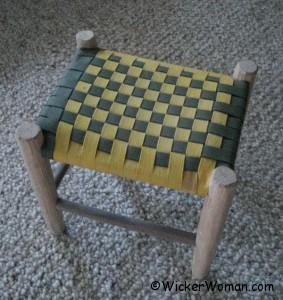 Shaker tape footstool