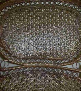 Spiderweb Cane in Victorian Wicker Rocker